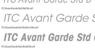 Font ITC Avant Garde Gothic Std 310x165 - ITC Avant Garde Gothic Std Font Free Download