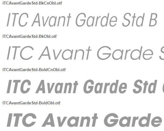 Font ITC Avant Garde Gothic Std - ITC Avant Garde Gothic Std Font Free Download