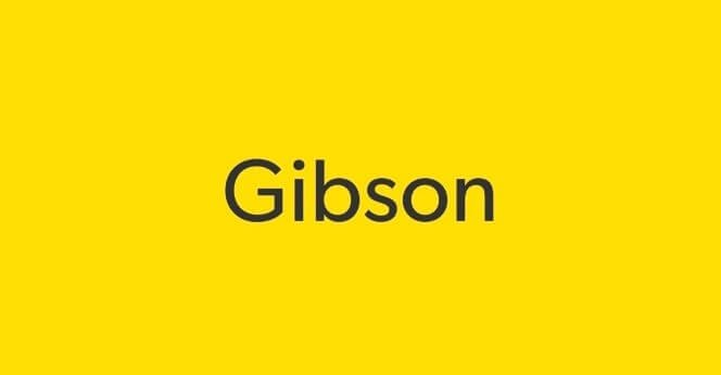 gibson font