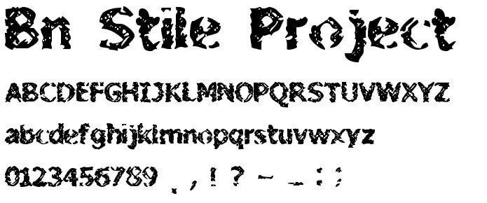 BN Stile Project Font