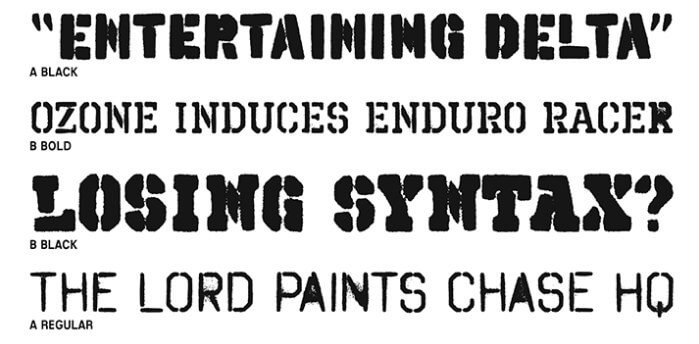 Spray Paint Font