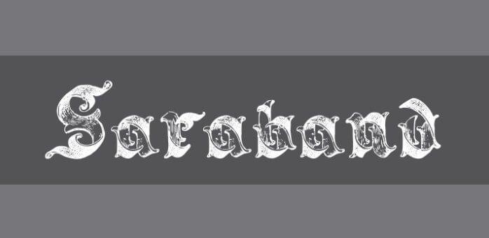 Saraband Lettering Font