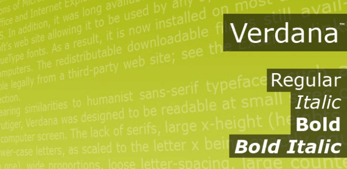 Verdana Font