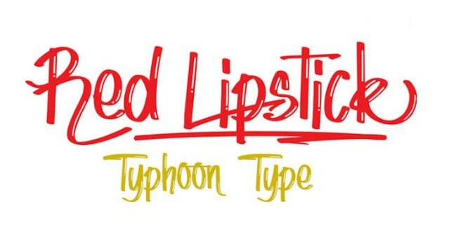 Lipstick Font