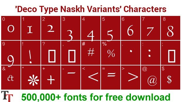 DecoType Naskh Variants Font