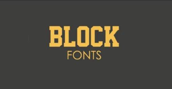 Full Block Font