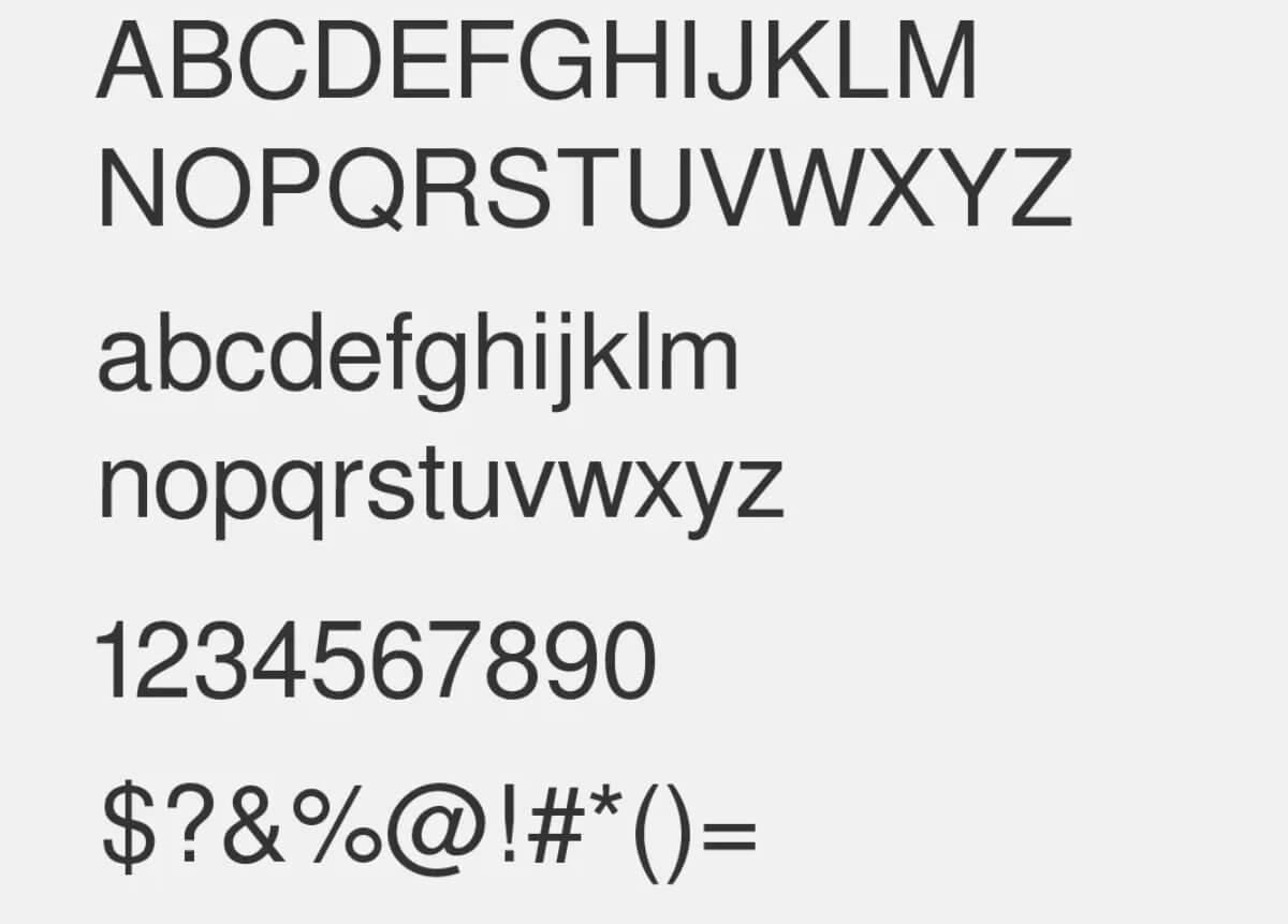 Sans Regular Font - Helvetica Neue Font Free Alternatives