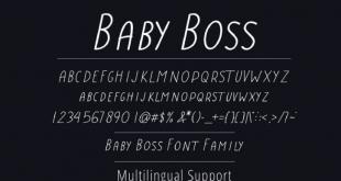 Boss Baby Font