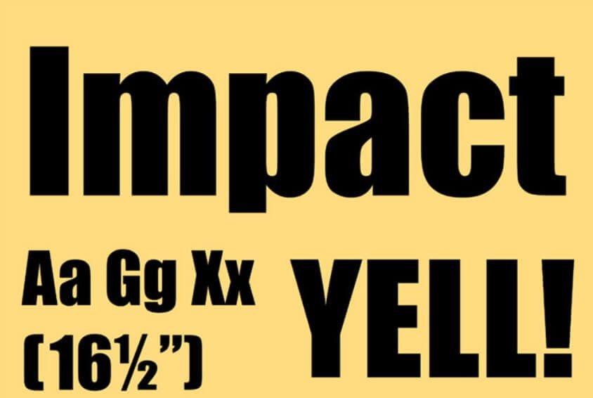 Impact font free - Impact Font Free Download