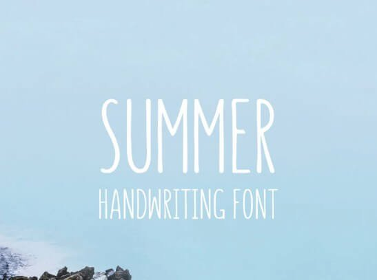 Summer Hearts Brush Font