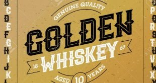 American Whiskey Font