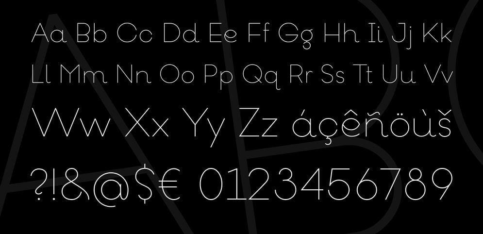 goeslim font - Goeslim Ultra Thin Font Free Download