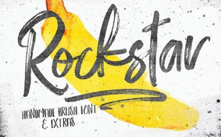 rockstar font - Rockstar Handmade Brush Font Free Download