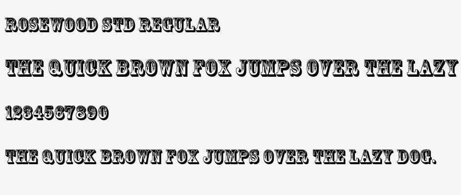 rosewood font - Rosewood Font Free Download