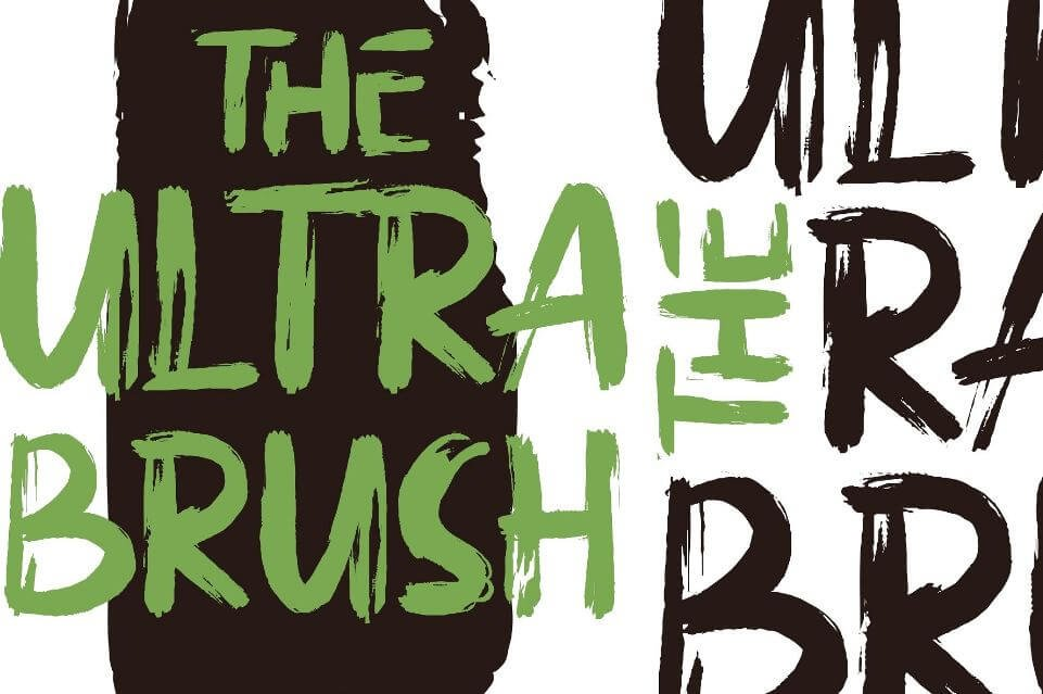 The ultra brush - The Ultra Brush Font Free Download