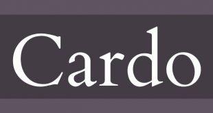 cardo font 310x165 - Cardo Font Free Download