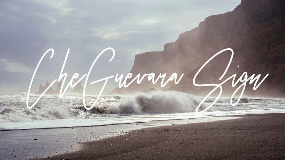 cheguevara sign font - CheGuevara Sign Font Free Download