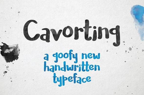 covarting font - Cavorting Handwritten Font Free Download