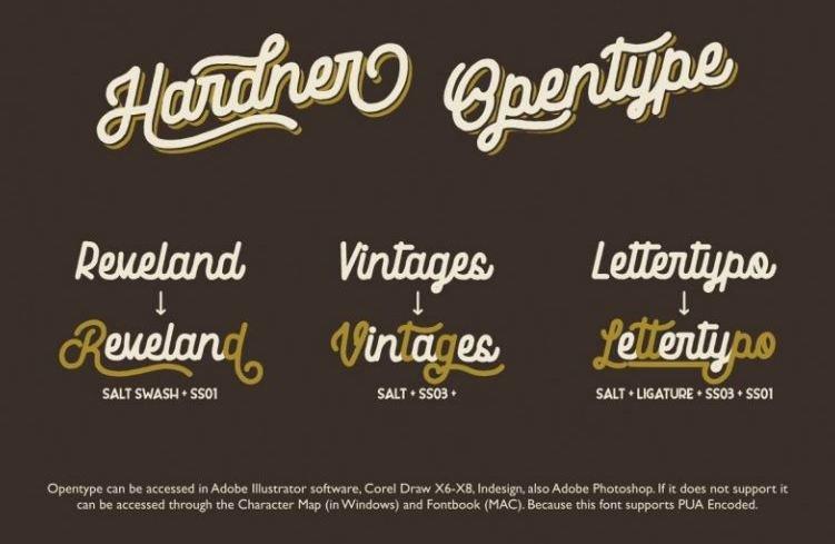 Download Hardner Vintage Font Free Download