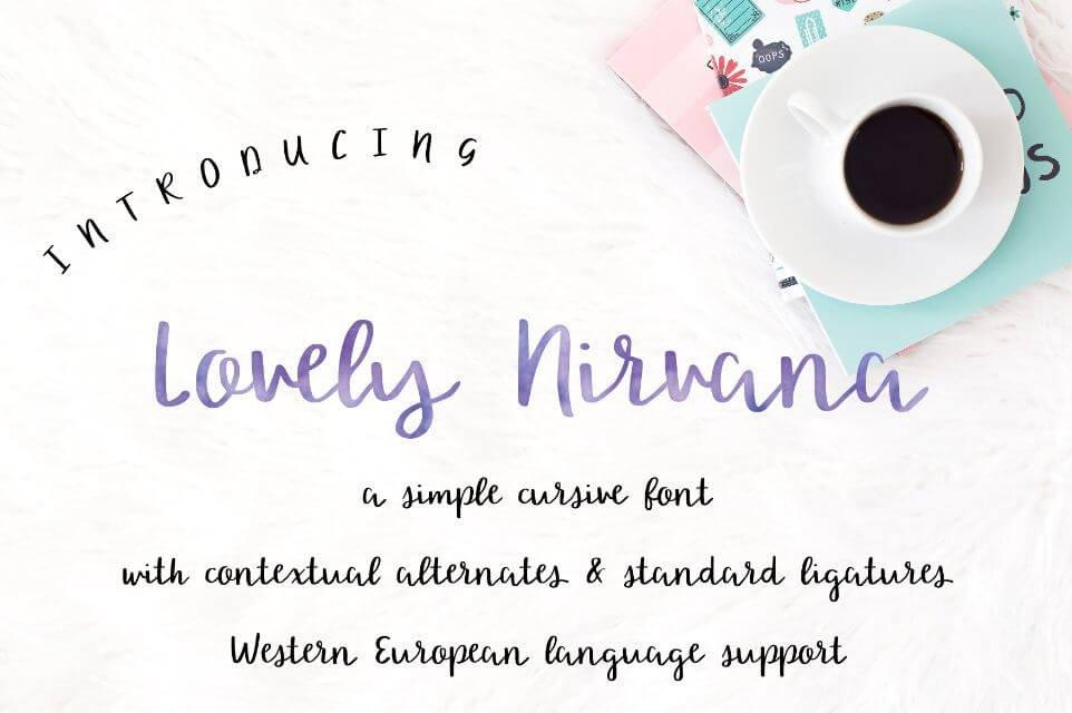 lovely nirvana font - Lovely Nirvana Script Font Free Download