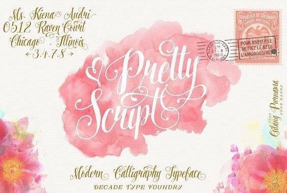 pretty script font - Pretty Script Font Free Download