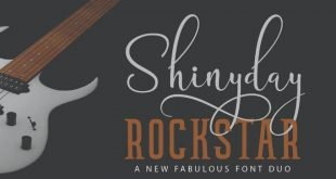 shiny font 310x165 - Shinyday & Rockstar Font Free Download