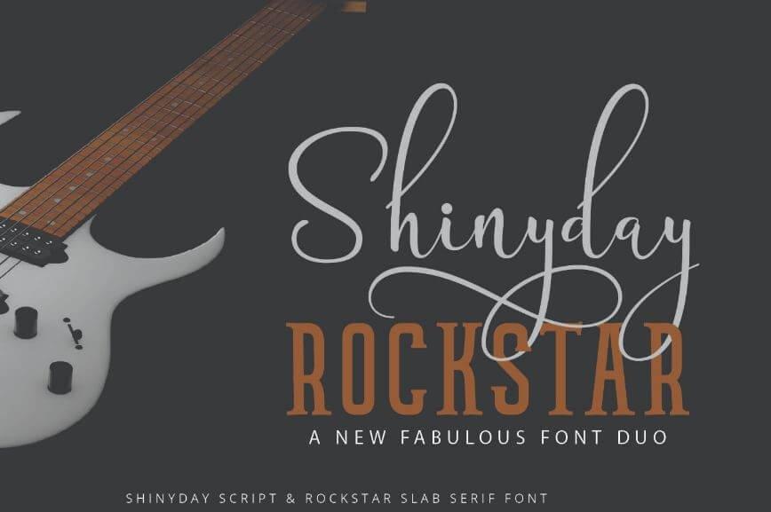 shiny font - Shinyday & Rockstar Font Free Download