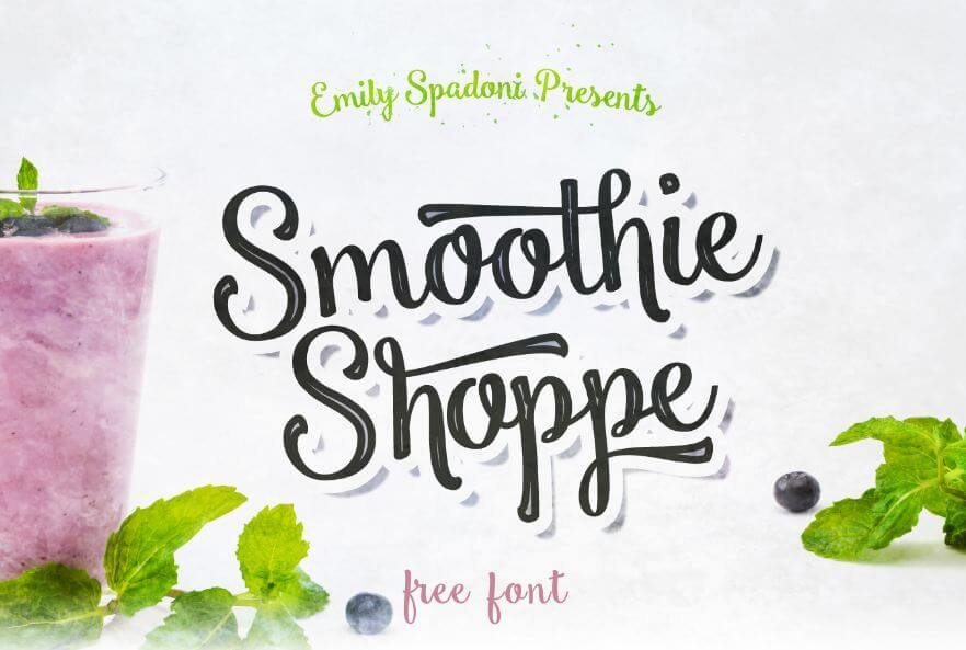 smoothie shoppe font - Smoothie Shoppe Script Font Free Download