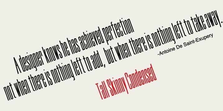 tall skinny font - Tall Skinny Condensed Font Free Download