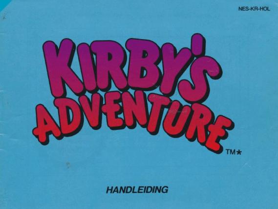 Kirby's Adventure Font