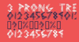 Prong Tree Font