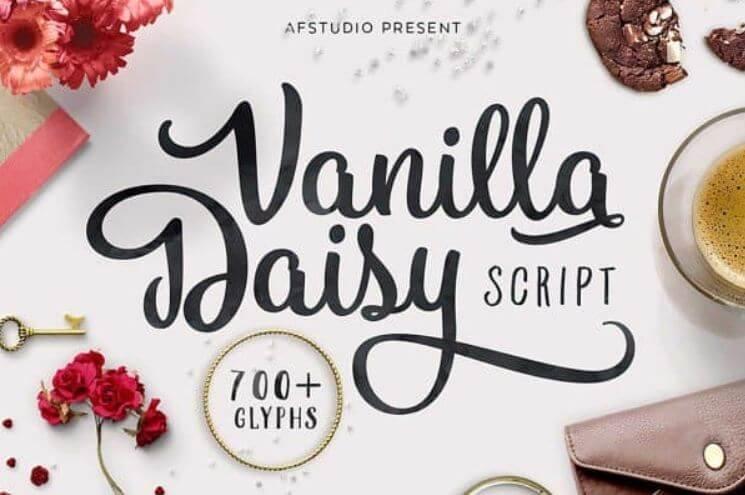 Vanila Daisy font - Vanilla Daisy Font Free Download