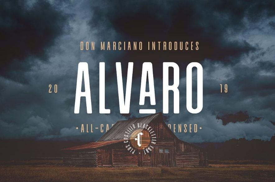 alvaro font - Alvaro Condensed Font Free Download