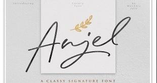 anjel font 310x165 - Anjel Signature Font Free Download