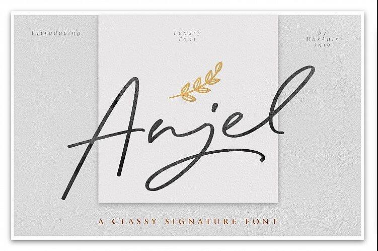 anjel font - Anjel Signature Font Free Download