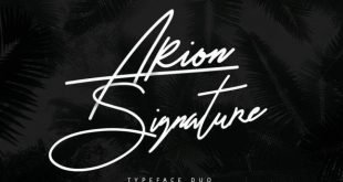 arion signature font 310x165 - Arion Signature Typeface Free Download