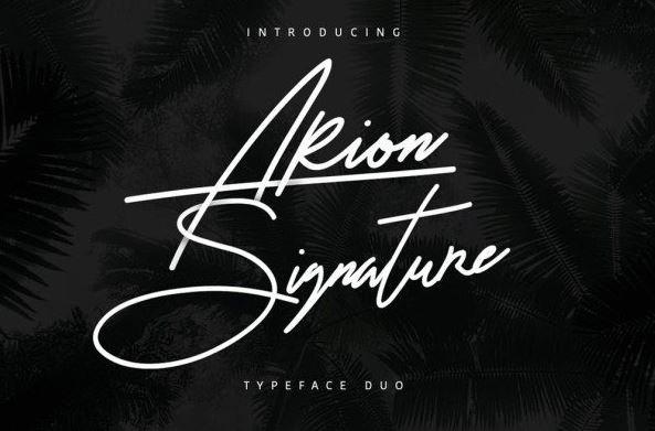 arion signature font - Arion Signature Typeface Free Download