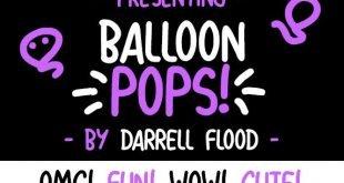 ballon pops font 310x165 - Balloon Pops Font Free Download