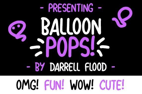 ballon pops font - Balloon Pops Font Free Download