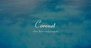 coronet font 310x165 - Coronet Font Free Download