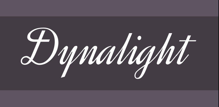 dynalight font - Dynalight Font Free Download