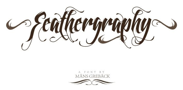 feather graphy font - Feathergraphy Decoration Font Free Download