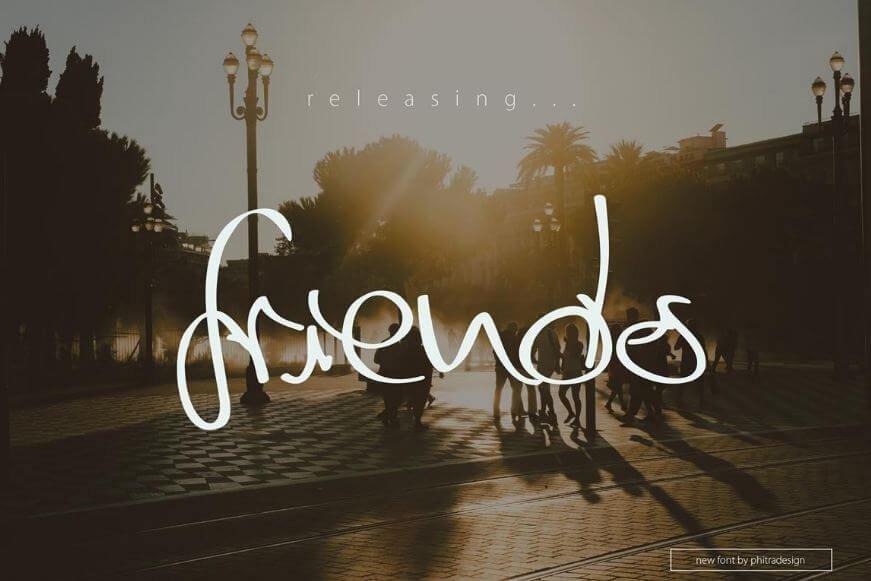 friends script font - Friends Script Font Free Download