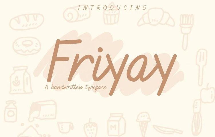 friyay font - Friyay Handwritten Font Free Download