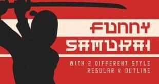 funny samurai font 310x165 - Funny Samurai Typeface Free Download