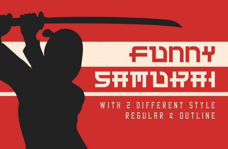 funny samurai font - Funny Samurai Typeface Free Download