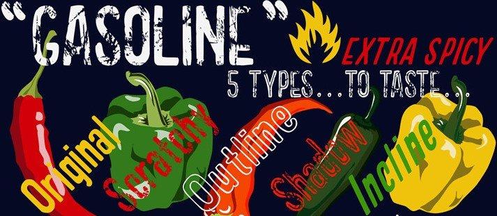 gasoline font - Gasoline Scratchy Font Free Download