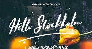 hello stockhim font 310x165 - Hello Stockholm Font Free Download