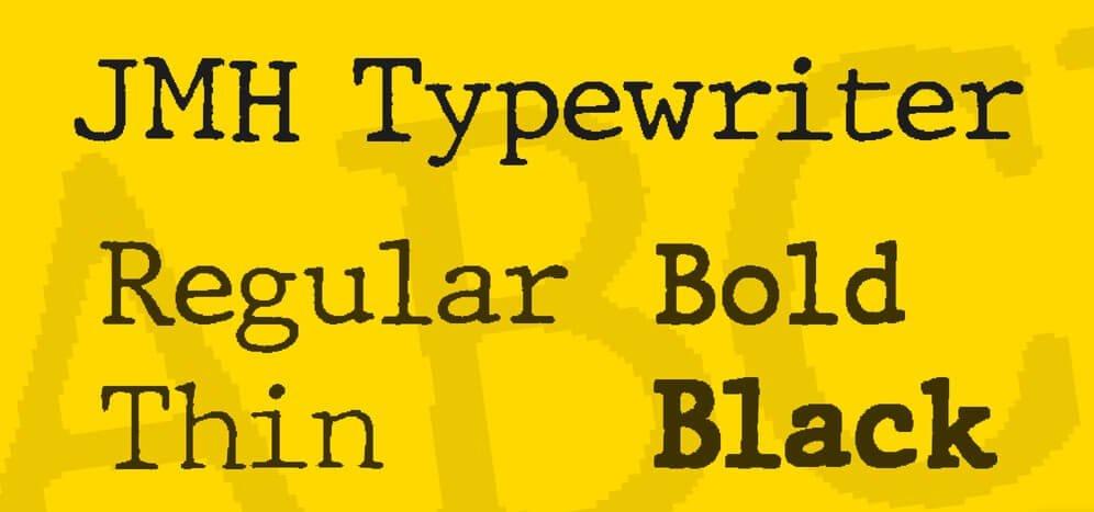 jmh typewriter font - JMH Typewriter Font Download