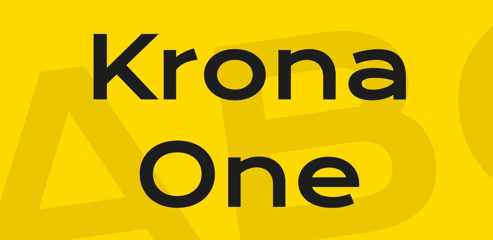 krona font - Krona One Font Free Download